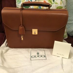 """""SOLD"""" Gucci brown leather briefcase"